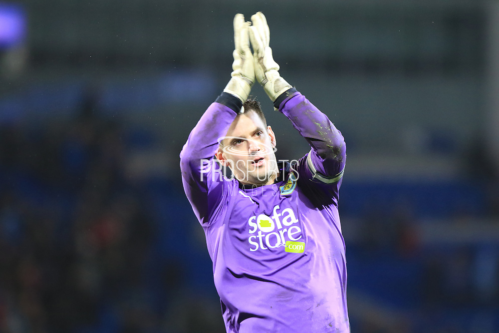 Burnley goalkeeper Thomas Heaton during the Sky Bet Championship match between Cardiff City and Burnley at the Cardiff City Stadium, Cardiff, Wales on 28 November 2015. Photo by Jemma Phillips.