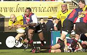 29/02/2004  -  Powergen  Cup - London Wasps v Pertemps Bees .Bees Nick Baxter    [Mandatory Credit, Peter Spurier/ Intersport Images].
