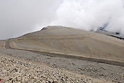 France - Monday, Jun 09 2008: View of the final kilometre to the summit of Mont Ventoux. At a height of 1909m, Mont Ventoux is one of the Col Mythiques of Tour de France history. (Photo by Peter Horrell / http://www.peterhorrell.com)