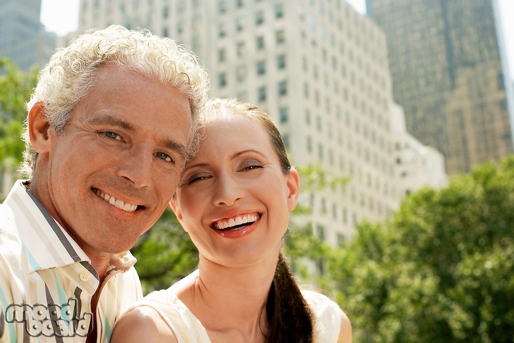 Happy Couple in City