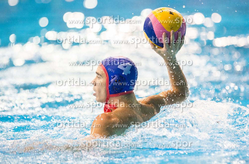 Alexandros Gounas of Olympiacos during water polo match between Primorje Erste Bank (CRO) and Olympiacos Piraeus (GRE) in 8th Round of Champions League 2016, on April 16, 2016 in Kantrida pool, Rijeka, Croatia. Photo by Vid Ponikvar / Sportida