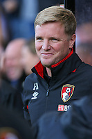 Football - 2017 / 2018 Premier League - AFC Bournemouth vs. Leicester City<br /> <br /> Bournemouth's Manager Eddie Howe before kick off at the Vitality Stadium (Dean Court) Bournemouth<br /> <br /> COLORSPORT/SHAUN BOGGUST