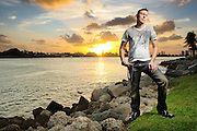 Photos of electronic music producer Justin Waters photographed in Miami, Florida on March 3, 2011 by music photographer Todd Owyoung.