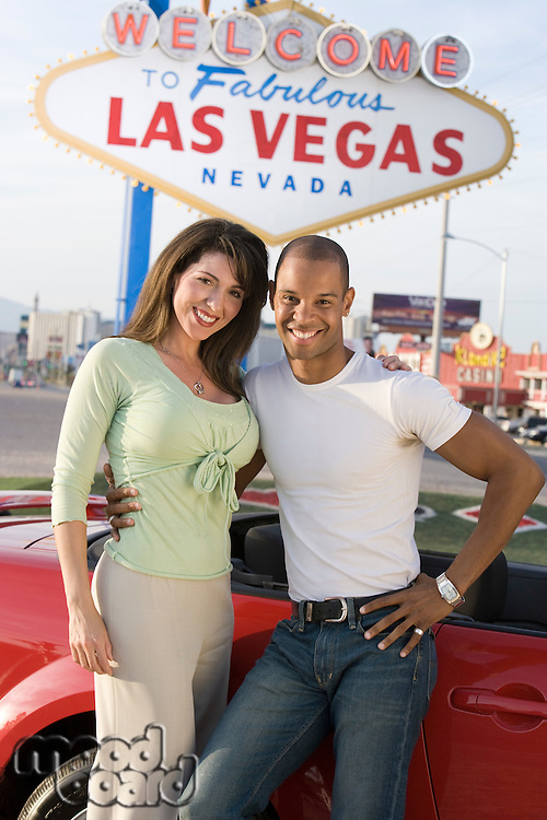 Portrait of couple in Las Vegas, Nevada, USA
