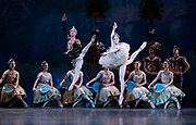 La Bayadere <br /> A ballet in three acts <br /> Choreography by Natalia Makarova <br /> After Marius Petipa <br /> The Royal Ballet <br /> At The Royal Opera House, Covent Garden, London, Great Britain <br /> General Rehearsal <br /> 30th October 2018 <br /> <br /> STRICT EMBARGO ON PICTURES UNTIL 2230HRS ON THURSDAY 1ST NOVEMBER 2018 <br /> <br /> Vadim Muntagirov as Solor <br /> A warrior <br /> <br /> Natalia Osipova as Gamzatti <br /> <br /> <br /> Photograph by Elliott Franks Royal Ballet's Live Cinema Season - La Bayadere is being screened in cinemas around the world on Tuesday 13th November 2018 <br />
