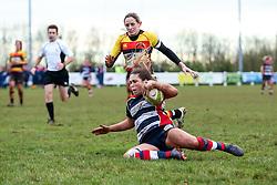 Sydney Gregson of Bristol Ladies scores a try - Rogan Thomson/JMP - 15/01/2017 - RUGBY UNION - Cleve RFC - Bristol, England - Bristol Ladies Rugby v Richmond WRFC - RFU Women's Premiership.
