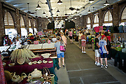 Shoppers view local products at the newly restored Charleston City Market May 20, 2011 in Charleston, SC.