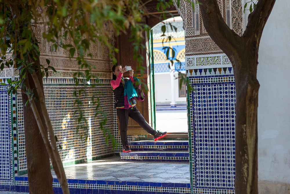 Bahia Palace riad garden courtyard space, Marrakesh, Morocco, 2017–12-05.