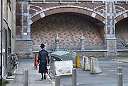 Belgie, Antwerpen, 8-10-2012Stadsgezicht, straatbeeld van deze stad in Vlaanderen. Orthodoxe jood loopt in de joodse wijk.Foto: Flip Franssen/Hollandse Hoogte