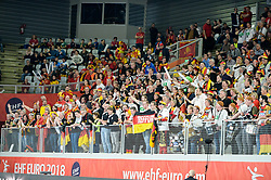 Fans of Germany during handball match between National teams of Germany and Denmark on Day 4 in Main Round of Men's EHF EURO 2018, on January 21, 2018 in Arena Varazdin, Varazdin, Croatia. Photo by Mario Horvat / Sportida