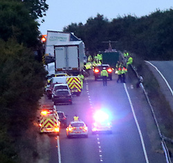 Monday 10th October 2016  Reading Berkshire :File Pictures from Incident : West Ilsley on 10 August. A lorry driver has pleaded guilty to killing a mother and three children in an eight-vehicle crash in Berkshire.<br />