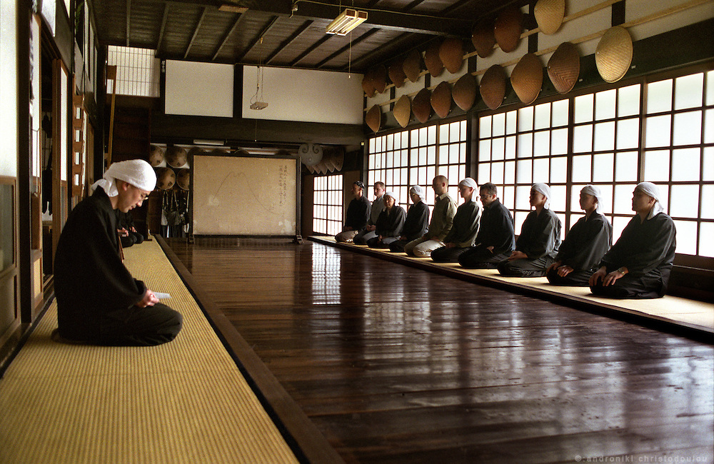 "LIVING ZEN - HOSHINJI MONASTERY, OBAMA-JAPAN..After breakfast everyone is given work ""soji"" to do as part of the monastic practice, as the ""Zazen in everyday life""."