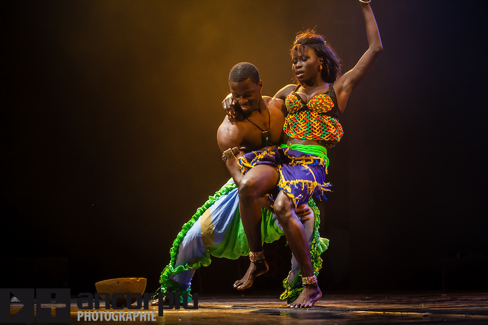 Traditional African Dance Festival in the Institute Français in Dakar (Senegal).