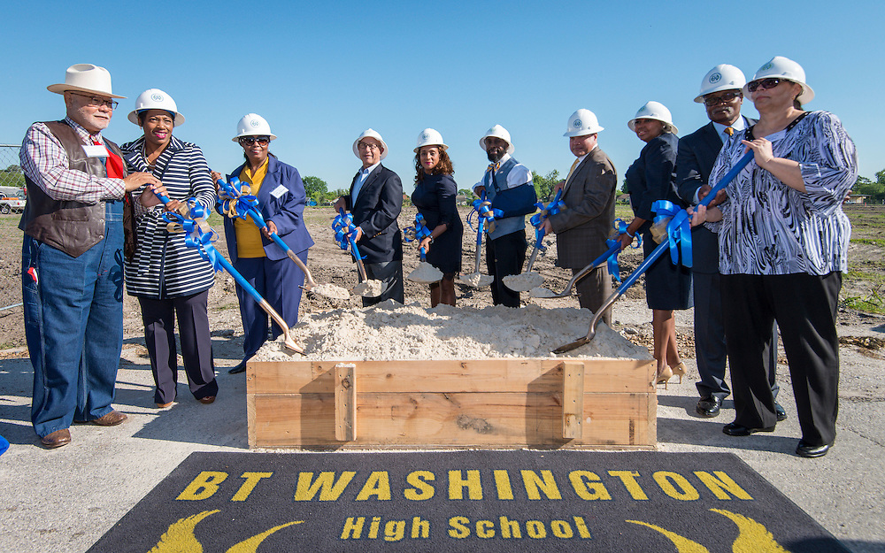 Ground breaking ceremonies at Washington High School, April 5, 2016.
