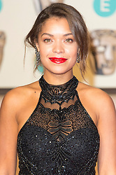 © Licensed to London News Pictures. 14/02/2016. London, UK.  ANTONIA THOMAS arrives on the carpet for the EE British Academy Film Awards 2016 after party held at Grosvenor House . London, UK. Photo credit: Ray Tang/LNPPhoto credit: Ray Tang/LNP