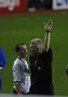 Photo: Jo Caird<br /> Reading v Derby<br /> Madejski Stadium<br /> Nationwide Div 1 2004<br /> 31/01/2004.<br /> <br /> Ref disallows Leon Osmans goal