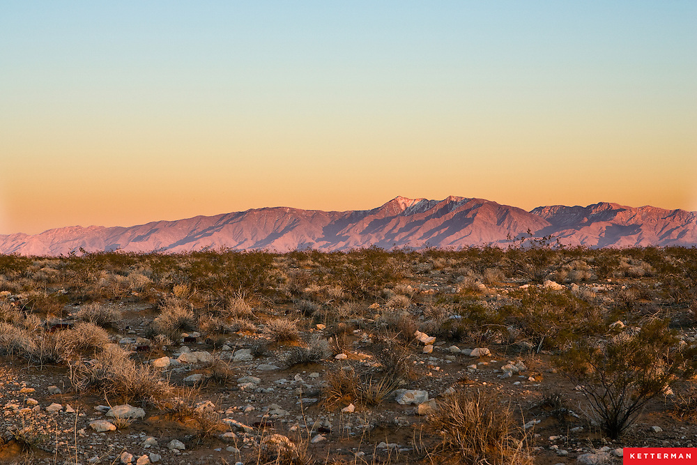 Mountains in the Mojave Desert