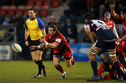 Ryan Glynn of Bristol Rugby passes the ball - Mandatory by-line: Robbie Stephenson/JMP - 13/01/2018 - RUGBY - Castle Park - Doncaster, England - Doncaster Knights v Bristol Rugby - B&I Cup