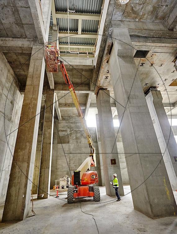 Forbrændingsanlæg BIG arkitekter skibakke Amager NCC beton betonbyggeri arbejdsmiljø sikkerhed lift kran