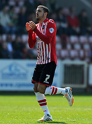 Exeter City's Liam Sercombe - Photo mandatory by-line: Harry Trump/JMP - Mobile: 07966 386802 - 06/04/15 - SPORT - FOOTBALL - Sky Bet League Two - Exeter City v Newport County - St James Park, Exeter, England.