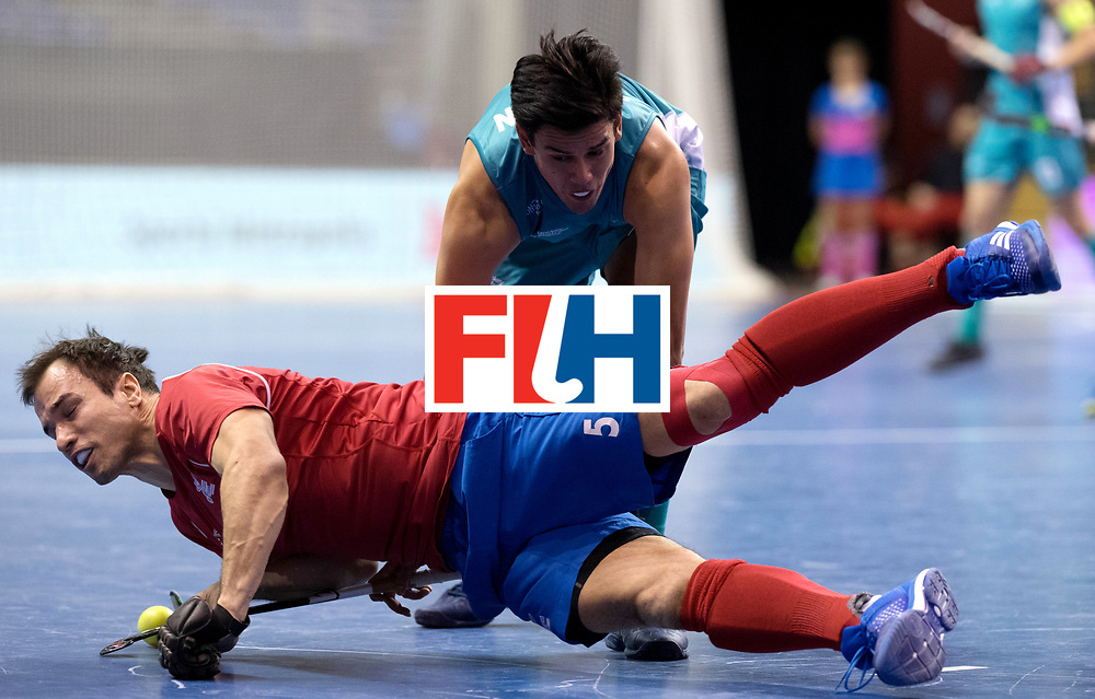 BERLIN - Indoor Hockey World Cup<br /> Men: Australia - Czech Republic<br /> foto: PROCH&Aacute;ZKA Tomas.<br /> WORLDSPORTPICS COPYRIGHT FRANK UIJLENBROEK