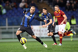 23.01.2013, Olympiastadion, Rom, ITA, TIM Cup, Lazio Rom vs Inter Mailand, Halbfinale, im Bild Rodrigo Palacio Inter // during the TIM Cup Semi Final 2nd Leg match between between SS Lazio and Inter Milan at the Olympic Stadium, Rome, Italy on 2013/01/23. EXPA Pictures © 2013, PhotoCredit: EXPA/ Insidefoto/ Paolo Nucci..***** ATTENTION - for AUT, SLO, CRO, SRB, BIH and SWE only *****