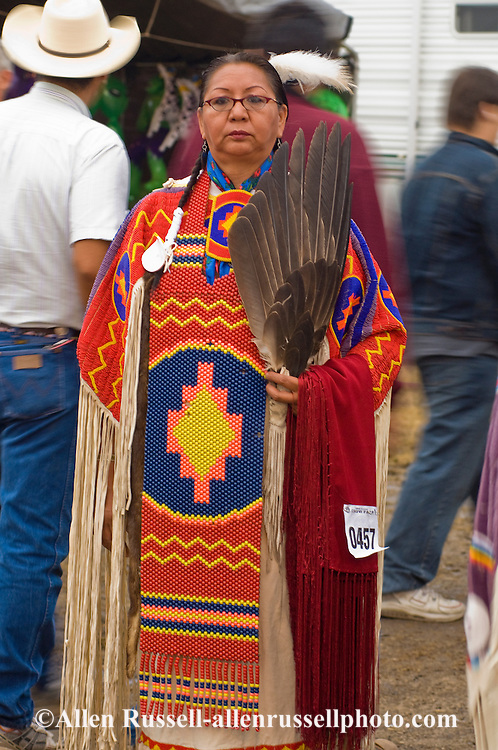 Elder, Crow, Traditional dancer, Crow Fair, powwow, Montana