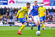Pablo Hernandez of Leeds United (19) in action during the EFL Sky Bet Championship match between Ipswich Town and Leeds United at Portman Road, Ipswich, England on 5 May 2019.