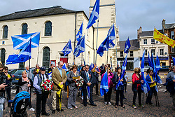 Lanark, Scotland, UK 20th August 2016   A march and ceremony to commemorate the death of Scottish Hero William Wallace (23rd August 1302) held on Saturday 20th August 2016.  Wallace has strong connections with the town of Lanark.<br /> <br /> (c) Andrew Wilson | Edinburgh Elite media