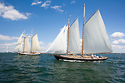 Adventurer racing at the Museum of Yachting Classic Yacht Regatta