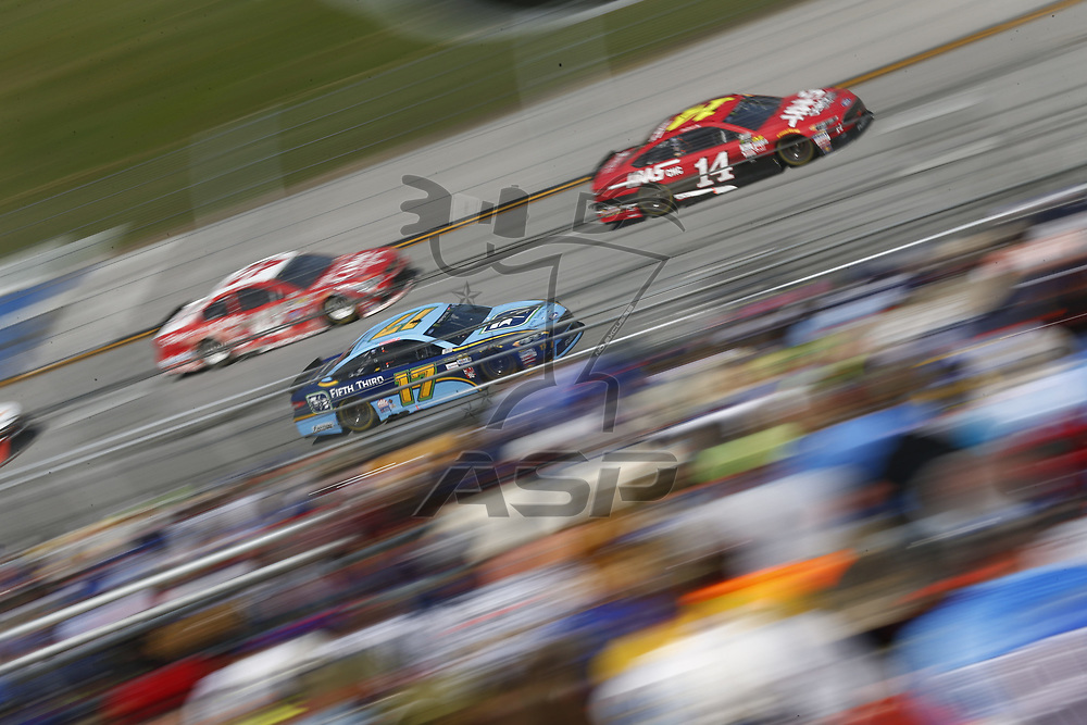 May 07, 2017 - Talladega, Alabama, USA: Ricky Stenhouse Jr. (17) battles for position during the GEICO 500 at Talladega Superspeedway in Talladega, Alabama.