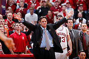 BLOOMINGTON, IN - FEBRUARY 4: Head coach Tom Crean of the Indiana Hoosiers argues a call during the game against the Purdue Boilermakers at Assembly Hall on February 4, 2010 in Bloomington, Indiana. Purdue won 78-75. (Photo by Joe Robbins) *** Local Caption *** Tom Crean