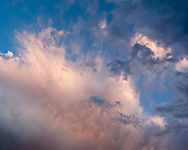 Breaking storm at sunset dramatizes the sky, Jemez Mountains, NM, © 2010 David A. Ponton