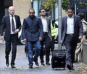 03/11/2011 - Pakistan cricketers match fixing sentence - Crown Court Southwark London - Mazhar Majeed (sun glasses)  makes his way into court.  - Photo: Charlie Crowhurst / Offside.