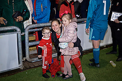 NEWPORT, WALES - Thursday, April 4, 2019: Wales' Cori Williams with family after an International Friendly match between Wales and Czech Republic at Rodney Parade. The game ended in a 0-0 draw. (Pic by David Rawcliffe/Propaganda)