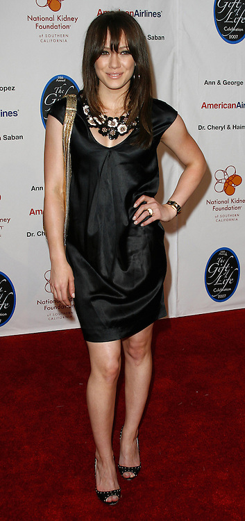 Hilary Duff attends the National Kidney Foundation of Southern California 28th Annual Gift of Life Celebration and Award Dinner held at the Warner Bros. Lot in Burbank, California on April 29, 2007.