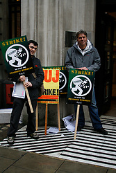 BBC Strike, NUJ Members picket BBC Radio Western House London