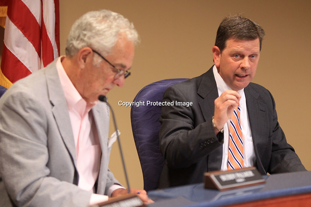 Mike Bryan, Tupelo's ward 6 councilman, speakes against the formation of the Police Advisory Board prior to the council taking it to a vote during Tuesday nights city council meeting.