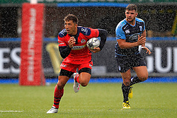 Gavin Henson of Bristol Rugby (L) in action - Mandatory by-line: Ian Smith/JMP - 20/08/2016 - RUGBY - BT Sport Cardiff Arms Park - Cardiff, Wales - Cardiff Blues v Bristol Rugby - Pre-season friendly