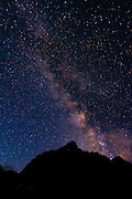 The Milky Way over the Palisades, John Muir Wilderness, Sierra Nevada Mountains, California USA