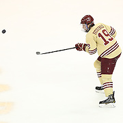 Ryan Fitzgerald #19 of the Boston College Eagles with the puck during The Beanpot Championship Game at TD Garden on February 10, 2014 in Boston, Massachusetts. (Photo by Elan Kawesch)