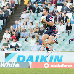 Jack Maddocks of the Melbourne Rebels during the super rugby match between Waratahs and the Rebels Allianz Stadium 21 May 2017(Photo by Mario Facchini -Steve Haag Sports)