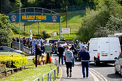 A general view as fans arrive at the John Smith's Stadium - Mandatory by-line: Matt McNulty/JMP - 14/05/2017 - FOOTBALL - The John Smith's Stadium - Huddersfield, England - Huddersfield Town v Sheffield Wednesday - Sky Bet Championship Play-off Semi-Final 1st Leg