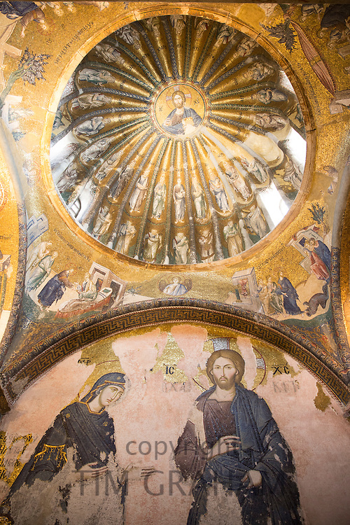 Church of St Saviour in Chora, Kariye Museum St Savior mosaic fresco Jesus Christ and disciples, Istanbul, Turkey