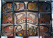 MOA - Museum Of Anthropology (at The University of British Columbia). Painting on wood by North West Coast First Nations artists.