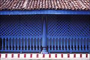 Detail of lattice screen. Hindu Kovil (temple), Ratnapura.