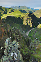 Imnaha River carving its way through Canyon, Hells Canyon Recreation Area Oregon