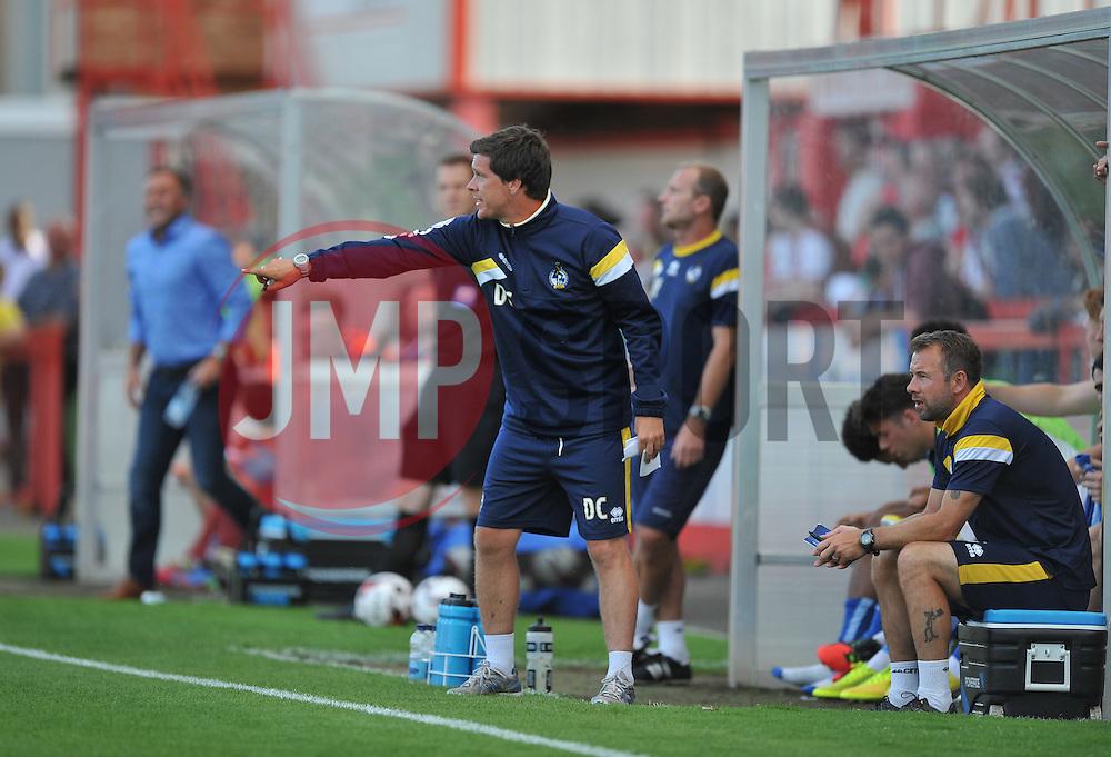 Bristol Rovers Manager, Darrell Clarke  - Photo mandatory by-line: Alex James/JMP - Tel: Mobile: 07966 386802 15/07/2014 - SPORT - FOOTBALL - Whaddon Road- Cheltenham  -  Cheltenham Town V Bristol Rovers - preseason
