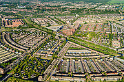 Nederland, Noord-Holland, Gemeente Purmerend, 13-06-2017; nieuwbouwwijk Weidevenne met het centrale winkelcentrum.<br /> Purmerend, small city north of Amsterdam w new residential quarters<br /> <br /> luchtfoto (toeslag op standard tarieven);<br /> aerial photo (additional fee required);<br /> copyright foto/photo Siebe Swart