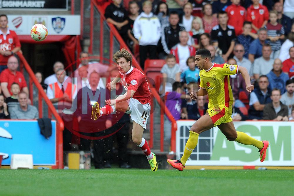 Bristol City's Luke Freeman - Photo mandatory by-line: Dougie Allward/JMP - Mobile: 07966 386802 - 27/09/2014 - SPORT - Football - Bristol - Ashton Gate - Bristol City v MK Dons - Sky Bet League One